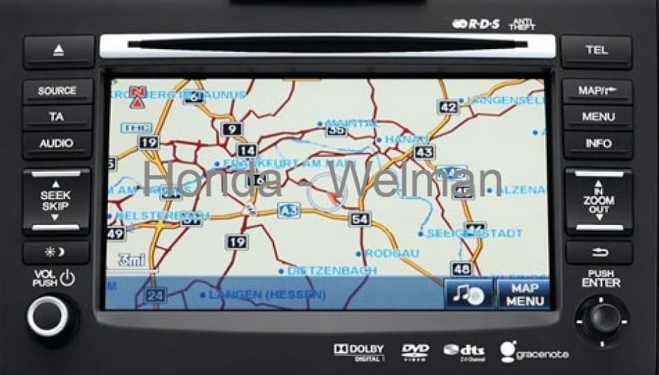 Honda HDD navigatie Update 2017 voor HDD systemen