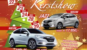 Kerstshow bij Honda Welman