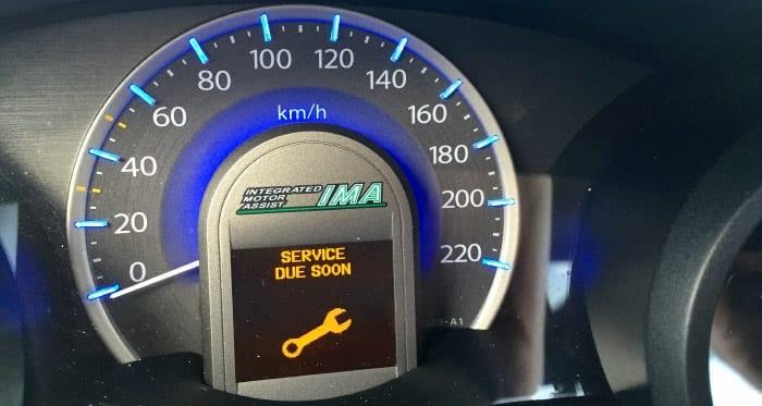 honda dashboard onderhoud