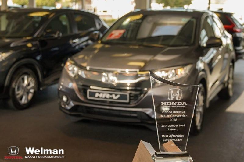 Honda Welman wint Award voor Best Aftersales Performance NL