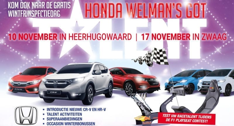 Honda Welman's Got Talent - winterinspectie