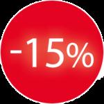 15%korting